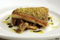 Image: striped bass with pistachios